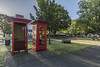 Telephone boxes Ross (Bev-lyn) Tags: telephone boxes history ross tasmania outdoors phone red