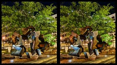 Untitled by Aristides Demetrios (sleightman 3D) Tags: allrightsreserved copyrightcarlwilson crosseye crossview depth stereoview stereo stereoscopic stereogram sleightman stereoscope stereocard night art sculpture tree city buildings lights hdr hdri abstract evening town springfield missouri