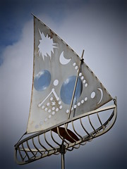 Sail to the Moon (Couldn't Call It Unexpected) Tags: stainless steel scupture statue yacht sailing boat radiohead
