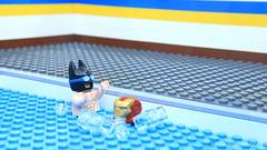 Lego Batman - Jumping pool (xeay1259) Tags: brickfilm lego batman swimming parody