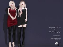 Long Front-Laced Tee & Side Glitter Leggings (NyuNyu Kimono, NYU!) Tags: secondlife second life nyu fameshed front lace tee side glitter leggings