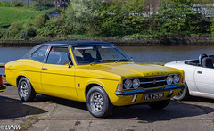 1975 Ford Cortina  MkIII GT Coupe VLY259M (LVNWtransFoto) Tags: nebpt car ford cortina mkiii spillerswharf newcastle quayside vly259m rally transport vehicle gt coupe nebuses