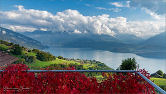 Thunersee - Schweiz (Hans van Bockel) Tags: hansvanbockel d7200 nikon sigriswil zwitserland bern ch licht 1680mm thunermeer thunersee meer lake see clouds mountains wolken bergen beatenberg spiez lightroom