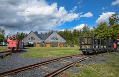 Ehemalige Schiefergrube Lehesten  (1) (berndtolksdorf1) Tags: deutschland thüringen schiefergrube werksbahn outdoor schienen lok grubenbahn lehesten