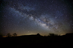 Fajada Butte's Celestial Connections (Jeff Mitton) Tags: milkyway fajadabutte chacocanyon chacoculturenationalhistoricpark sundagger ancientpuebloans anasazi nativeamerican historic butte nightsky