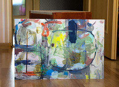 Lesson (Natasha Davydova) Tags: art artwork acrylic painting picture cardboard object line abstract abstraction