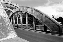 Bridge (Modkuse) Tags: bridge monochrome bw blackandwhite nikon nikonf2photomic f2 50mmf14 50mmf14nikkor trix rural