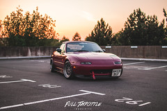 IMG_4449 (Full Throttle Industries) Tags: mazda mx5 fifteen52 eunos roadster jdm japanese sunset car red fullthrottle metallic sparkle