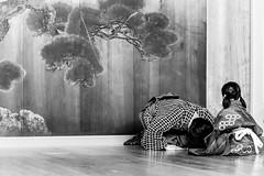 お稽古 - 01 - 18 (Stéphane Barbery) Tags: hayashi koume soichiro children enfants filles girls japan japon kyoto lesson leçons noh nô okeiko お稽古 京都 宗一郎 小梅 日本 林 能楽