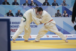 Vladimir Putin visits the Judo Tournament