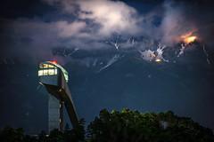 #2 bergisel by night (justanikonfanboy) Tags: tirol bergisel night clouds mountain snow lowlight innsbruck nature landscape