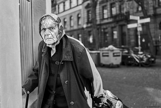 Mannheim Street Frau 534 b&w