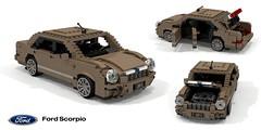 Ford Scorpio Mk II (1994) (lego911) Tags: ford europe 1994 1990s scorpio mk2 mkii sedan saloon executive ghia uly auto car moc model miniland lego lego911 ldd render cad povray motor company