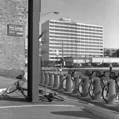 rebel (pavel photography) Tags: bycicles street blackandwhitefilm mediumformatfilm monochrome film 6x6film streets hasselblad hasselblad500cm