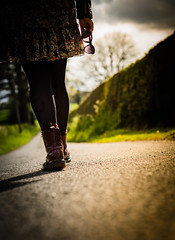 The long road ahead.. (Emma Yeardley) Tags: me person walking dms boots road walk countryside nature green sunshine nikon nikond3300 50mm nikon50mm 365 365challenge day118 longroadahead dof