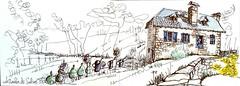 Corrèze, le moulin de Selves (Croctoo) Tags: croctoo croctoofr croquis moulin correze aquarelle watercolor encre