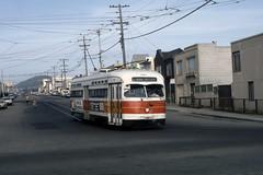 US CA San Francisco MUNI PCC 1101 6-1982 L-Taraval (David Pirmann) Tags: california sanfrancisco muni tram trolley streetcar transit railroad transportation pcc