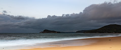 Panoramic Cloudy Seascape (Merrillie) Tags: daybreak sunrise panoramic panorama nature dawn clouds centralcoast morning northpearlbeach sea newsouthwales rocks pearlbeach nsw sky rocky ocean earlymorning landscape australia coastal waterscape outdoors seascape waves coast water seaside