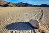 One Stone's Shadow (matthewkaz) Tags: theracetrack racetrack racetrackplaya desert deathvalley stone rock shadow drylake sailingstone sailingstones inyocounty mountains california 2014