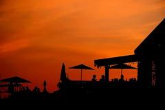 Dinning Out. (Photolove2017) Tags: sunset silhouettes pub nikondx landscape photolove2017 photolove2018 tiaphoto light orange sky colors dinning bar social d3100 downtown portage chaudiere quebec canada ottawagatineau