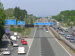 M56(E) M6 Junction (J_Piks) Tags: road motorway highway traffic sign overheadsign directionsign m6 m56 junction warrrington