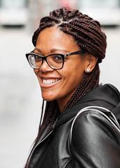 Smile! Street Portrait (adrianmichaelphotography) Tags: woman hair braids smiles smile streetphotography streetportrait streetphotographer street portrait portraits africanamerican nikonflickraward
