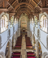 Wimborne Minster - the Nave from the Crossing Gallery (JackPeasePhotography) Tags: wimborne minster nave clerestory gallery history roof view arches architecture dorset nikon d7200 church abbey