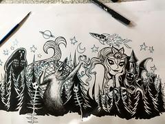 Inkity ink ink ink! (Tom Bagley) Tags: mermaid demon theheap forest castle werewolf stars moon rocket ink creepy eerie weird sideboob starfish cattyfatteners forbiddendimension scales tombagley calgary alberta canada