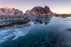 Transparent (Mika Laitinen) Tags: canon5dmarkiv europe hamnøy lofoten norway norwegiansea reine scandinavia blue calm dawn daybreak ice landscape nature ocean outdoors redcabin reflection rock sea serene shore sky snow sunrise water winter nordland no