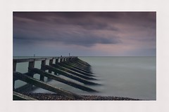 Weathered and Worn (hall1705) Tags: weatheredandworn longexposure breakwater climping westsussex sea seascape seaside beach beacheslandscapes sky clouds stormy water structure d3200