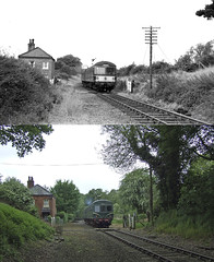 Wymondham Past and Present 6th September 1969 and 13th May 2018 (P Way Owen) Tags: wymondham love lane cemetery road level crossing railway mid norfolk cravens 105 101
