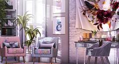 Quiet work moments (Alexa Maravilla/Spunknbrains) Tags: merak pocketgacha ariskea kustom9 hive fancydecor mudhoney meshindia roiro floorplan malone omen secondlife sl home office indoors floral interiordesign