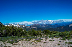 Old Snowy with Mt. Rainier in the distance (Ken Zaremba) Tags: cascademountains geography giffordpinchotnationalforest goatrockswilderness mtrainier mtraniernationalpark northamerica outdooractivities outdoorsports snoqualmienationalforest unitedstates washington washingtonstate backpacking camping hiking yakima geo:state=washington geo:lat=46499957944445 geo:country=unitedstates geo:city=yakima geo:location=unnamedroad geo:lon=12138926983333
