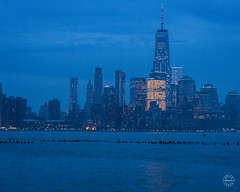 The Blue Hour (brianloganphoto) Tags: skyline northamerica regions newjersey hudsonriver evening wtcbluehour historical skycraper nyc newyorkcity landcape sky unitedstates water newyork landmark hoboken us