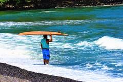 Honoli'i Paka surf beach (thomasgorman1) Tags: honolii hawaii surfing surfer beach nikon island shore waves tide scenic surfboard outdoors rocks lavarock hilo hamakua coast hawaiian man local