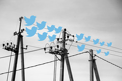 TWITTER (vlekuona) Tags: electric line electrical lines power post high voltage metal sky vintage technology energy construction steel industrial transmission equipment blue wire background light plant environment industry electricity danger development dangerous cable grid circuit distribution infrastructure watt russianfederation