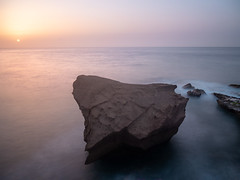 Tajao Rock (Blueocean64) Tags: spain tenerife sunrise haze coastal mer sea beach longexposure seaside shore water nature seascape serene quiet rock paysage landscape extérieur outdoor light spring orange hdr beauty panasonic g5 explore 美丽 艺术 摄影 旅游 景观 天空