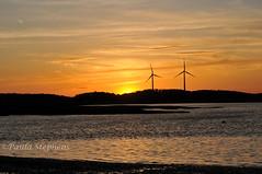 Sunset (Paula Stephens) Tags: sunset evening gloaming nightfall dusk orange light sky river ipswich massachusetts newengland nature
