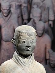Stable attendant (detail) (sharon'soutlook) Tags: statue terracotta stableattandantdetailfigureterracotta armycincinnati art museumhead shot china chinesehistory