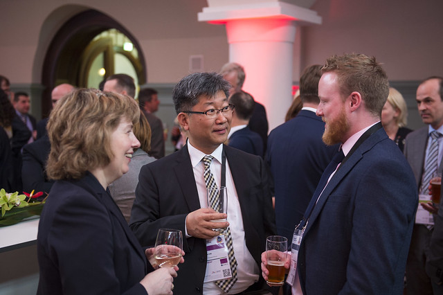 Young Tae Kim in conversation with the delegates during the presidency reception
