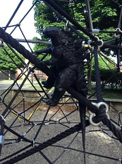 Climbing Up the Spider Park (splinky9000) Tags: kingston ontario greenwood park neca 2014 godzilla legendary pictures action figure toys
