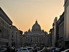 Sunset over St. Peter basilica (Ramona Muntean) Tags: rome vatican basilica sunset