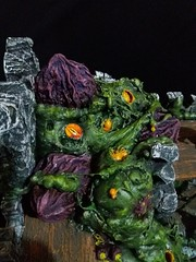 The Nurgle mass in the fort (srejicd) Tags: nurgle warhammer wh aos age sigmar bretonnia church worm mass monster stained glass cathedral eyes tentacles ulcers pimples garden trees sick scary horror mutation obelisk eggs demons chaos fort symbol intestines bile teeth horns scenery terrain