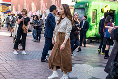 Tipsyish (burnt dirt) Tags: asian japan tokyo shibuya station streetphotography documentary candid portrait fujifilm xt1 laugh smile cute sexy latina young girl woman japanese korean thai dress skirt shorts jeans jacket leather pants boots heels stilettos bra stockings tights yogapants leggings couple lovers friends longhair shorthair ponytail cellphone glasses sunglasses blonde brunette redhead tattoo model train bus busstation metro city town downtown sidewalk pretty beautiful selfie fashion pregnant sweater people person costume cosplay brown white gold sleepy tired