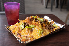 Afternoon Nachos (AllanAnovaPhotos) Tags: nachos icedtea filipino pinoy food spicy sigma sony