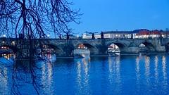 Karlův most (Charles Bridge), Prague, Czech Republic (David McKelvey) Tags: 2018 europe czech republic prague praha sony dscrx100 night dark vltava river charles bridge karlůvmost