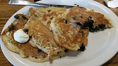 Wild Maine Blueberry Pancakes (Adventurer Dustin Holmes) Tags: 2018 crackerbarrel breakfast pancakes wildmaineblueberry blueberry butter buttery wildblueberry maineblueberry