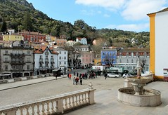 Welcome to Sintra...! (Esther Spektor - Thanks for 12+millions views..) Tags: sintra portugal town architecture building hill square prople transprtation estherspektor canon