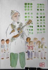 Fêtes des Fleurs, Boitsfort (chando*) Tags: aquarelle croquis sketch watercolor