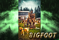 BIGFOOT-FIZZ-2268WX4032H-300PPI-2017 © Cody Jacobson-ZEN MOUNTAIN MEDIA all rights reserved (codyjacobson@zenmountainmedia.com) Tags: bigfootfizz2268wx4032h300ppi2017zenmountainlogotshirtposterdesignphotohsopdigitalartportfoliolandscapephotographybandon or bigfoot woodcarving large wooden workshop evergreen trees dog womangrass clouds overcast sky grass hdrsamsunggalaxys8canont6idigitalretouchingarourahdrphotoshopcamerarawbigfootwoodcarvingwoodproductsdogwomandisplayhighway101coastalhistoricscenicoregonforestnaturetreestraveltourismseasonaltrees